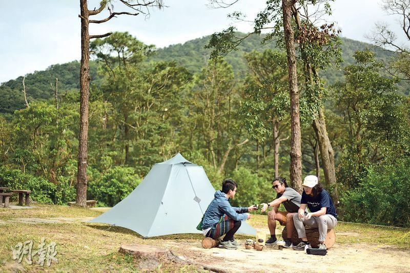 對Andrew和Klas來說,露營最吸引的地方是能長時間留在郊外,發掘大自然不為人知的美好風貌,過程充滿新鮮感。(黃志東攝)
