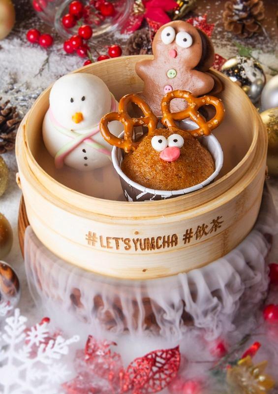 阿瑋憑手藝為傳統的點心加入新意。圖為聖誕卡通造型點心:小鹿拉糕 、紅豆雪人、薑餅傳說,聖誕節吃 Chinese 新派點心,新鮮感滿 Fun!
