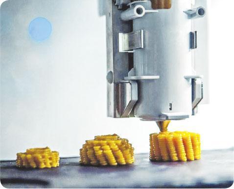 打印粟米——號稱全球首家3D打印的快閃餐廳「Food Ink」,從桌椅、餐具以至食物,均可以3D打印出來。(Food Ink網站圖片)