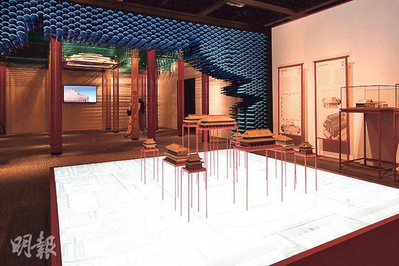 康文署今日起在香港文物探知館舉行「穿越紫禁城——建築營造」展覽,是次展覽以紫禁城的建築和工藝為主題,當中會重點介紹紫禁城內規格最高的建築太和殿。(賴俊傑攝)