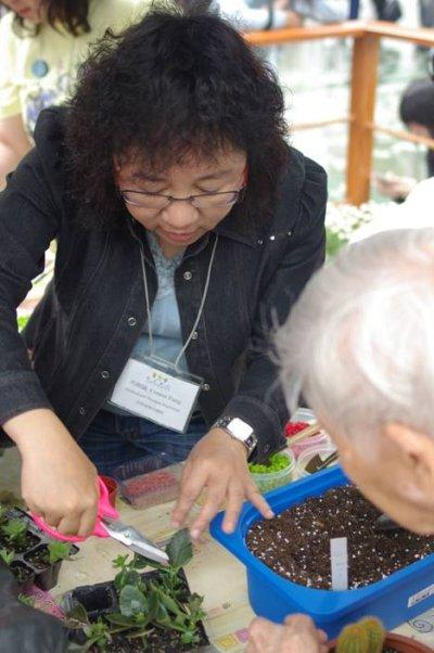 園藝治療師透過不同的園藝活動,如花卉及蔬果種植、花藝手工、治療性園景設計等,讓服務對象在栽花種草過程中找到自信和快樂。