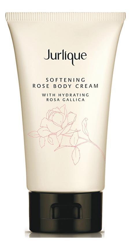 Jurlique 玫瑰緻柔身體乳霜﹕蘊含的法國玫瑰萃取物、牛油果油和乳木果油,據稱能令肌膚保持水潤,而蜂蠟和芝麻籽油,則有助修護肌膚的保護屏障。$310/150ml(品牌提供)