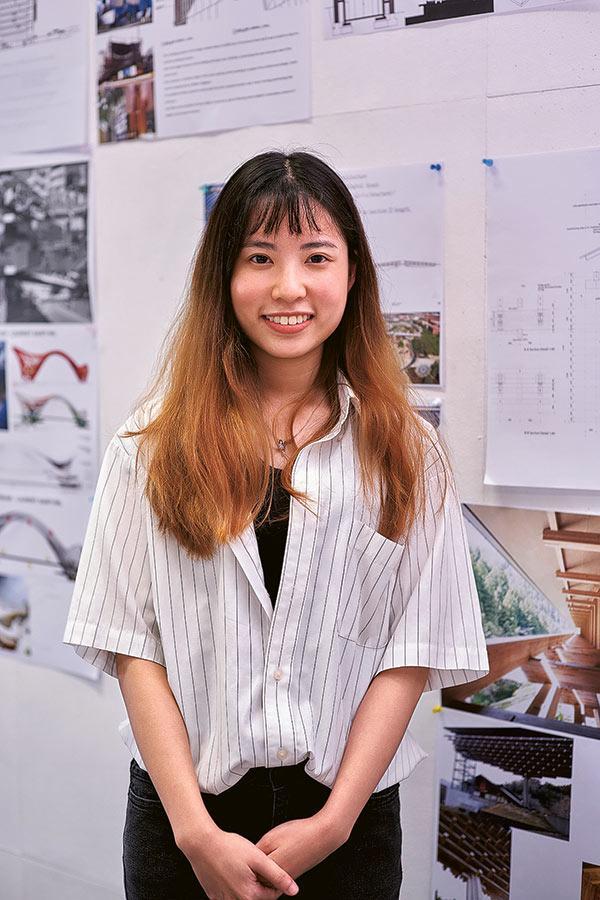 「建築學(榮譽)理學士」四年級學生韋佩婷