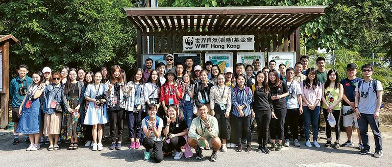 「環境及公共衛生管理理學碩士學位」課程學生組團參觀米埔自然保護區,感受香港生物多樣性。