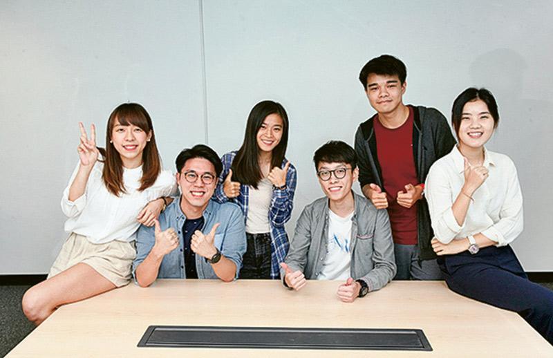羅寶妍、許嘉晉、張瑋洛、鍾銳祥、馮成裕、陳雯迪(左至右)