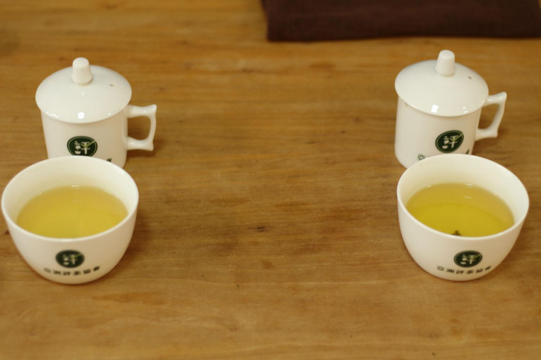 評茶過程:留意茶湯的顏色、品嘗茶湯滋味。