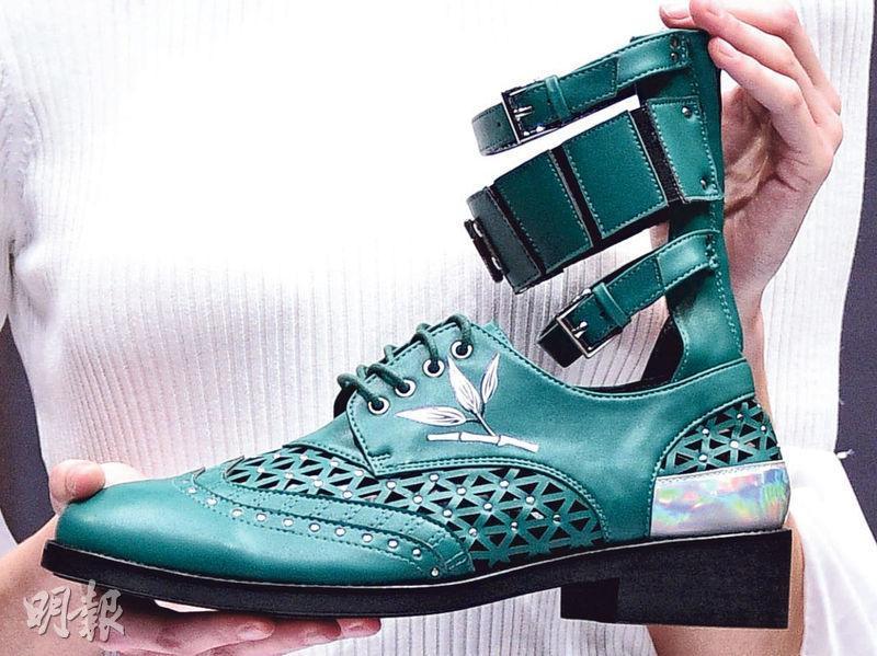 竹引發靈感 知專畢業生鞋款設計奪獎