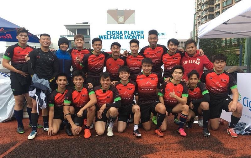 Keith (前排左一) 熱愛運動,在THEi修讀期間是欖球隊隊長,經常代表學校出賽,現已把興趣結合事業。