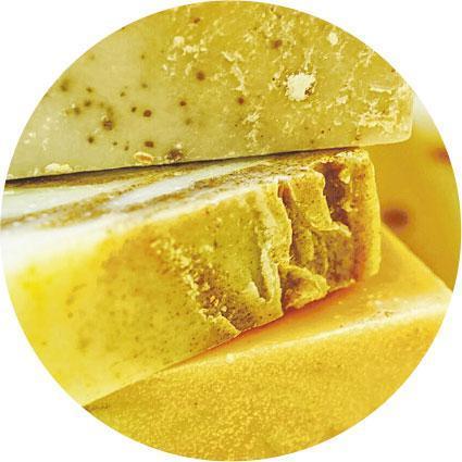 艾草皂——這些肥皂是用本地種植的艾草製作的艾草皂。(受訪者提供)