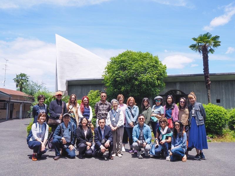 Priscilla帶日本建築團時,曾到訪京都住宅區的特色教堂。(受訪者提供)