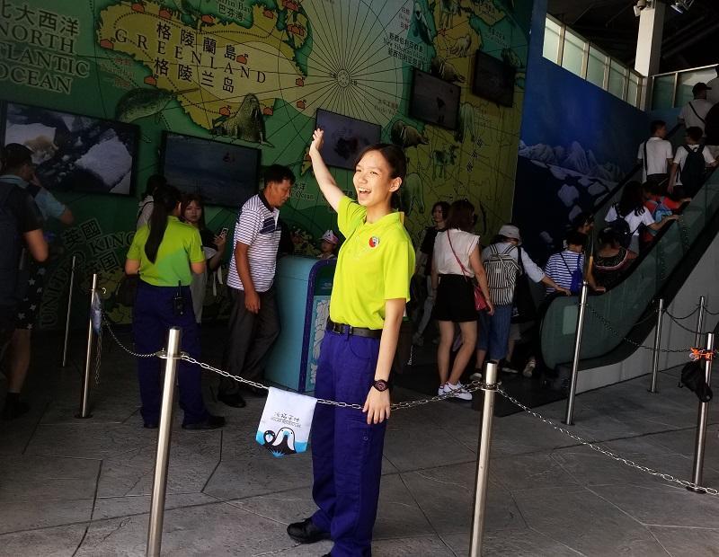 課程學員鍾巧欣曾到海洋公園遊樂設施執行部實習,她坦言,享受與賓客互動帶來的工作滿足感。