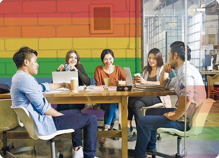 同志共融是多元共融概念的一部分,沒有性別歧視及偏見的共融工作間,讓任何性傾向的員工都能安心盡展所長。(imtmphoto@iStockphoto,設計圖片)