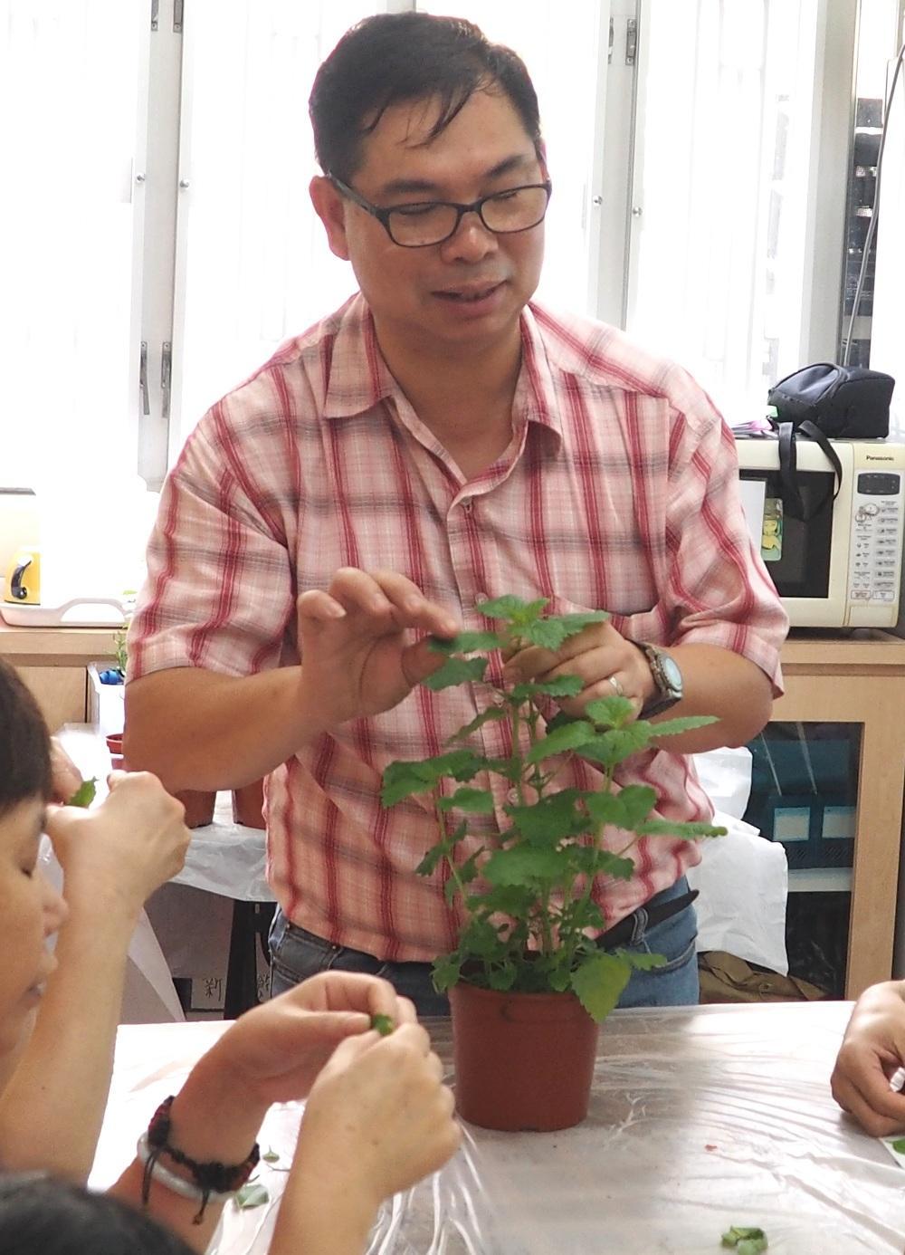 註冊園藝治療師鍾富華(圖由受訪者提供)