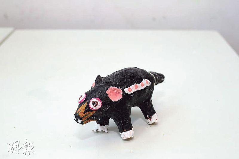 惡魔動物——在南南動物園中,有些動物難憑肉眼區分類別,如圖中這隻黑色鼠,南公公說:「這隻是惡魔,食動物死屍的。」(曾憲宗攝)