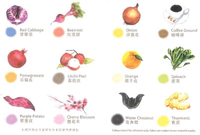 圖 A:天然染色譜 (由染樂工房提供)