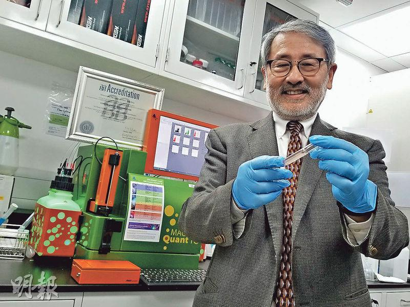 美國脊髓醫學權威楊詠威(圖)在科學園創辦生物科技公司,建立全港首個公用臍帶血單核細胞庫,並獲國際權威輸血和細胞治療機構「美國血庫協會」認可。(高卓怡攝)