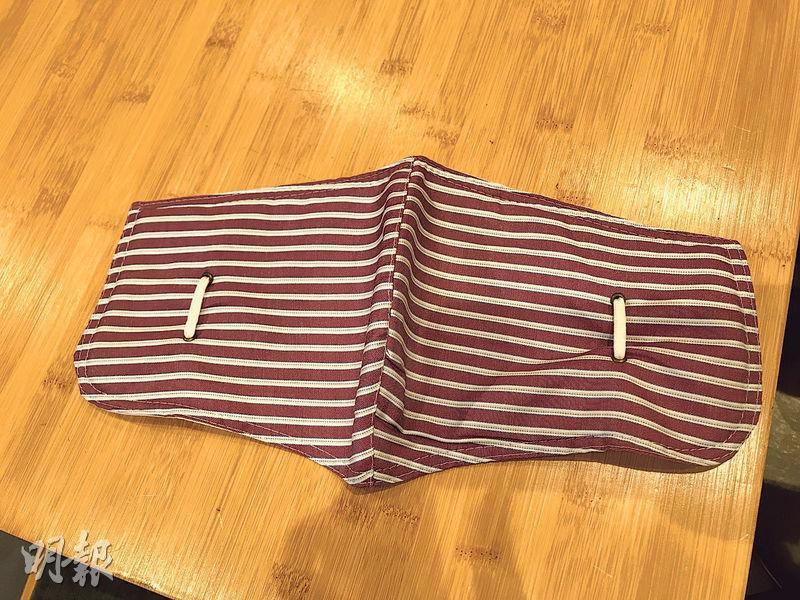 棉布口罩(鄧安琪攝)