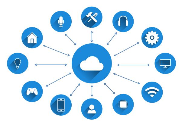 IVE 資訊科技系講師翁春輝表示,智慧科技當中少不了物聯網 (IoT),當中可利用傳感裝置蒐集相關數據 (如人流、車流等),加上 AI 的輔助後,可應用在不同方面。(網上圖片)