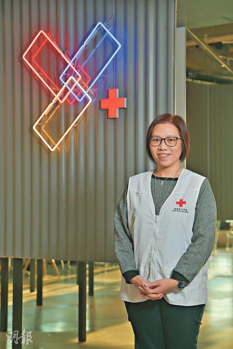 防災專家——呂秀蘭:香港紅十字會醫護服務部社區防災備災訓練經理(黃志東攝)