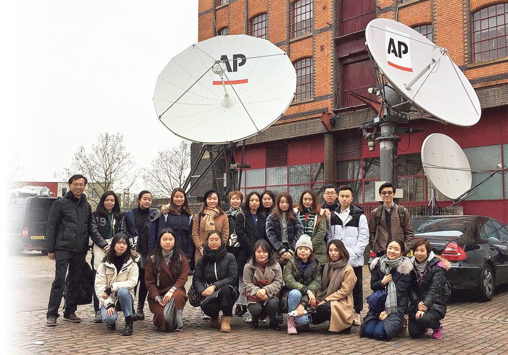 ▲學院每年會為學生安排精彩的海外學習考察,跟各地媒體機構負責人及知名業界人士交流,開拓眼界。