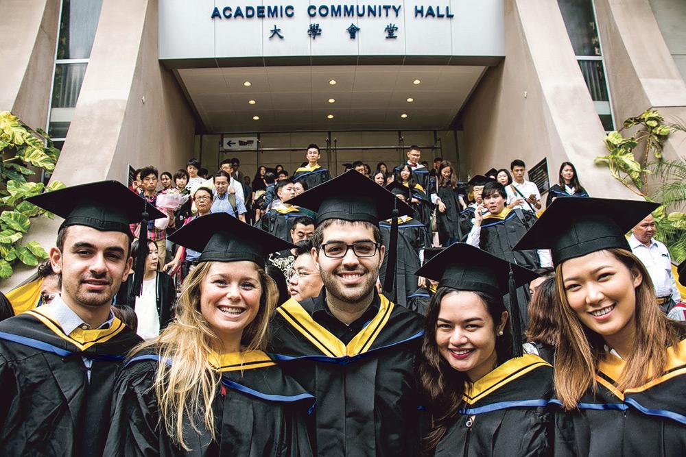 ▲浸大工商管理學院是全港唯一一所獲三重國際認證的商學院,課程吸引不少來自世界各地的學生選讀。