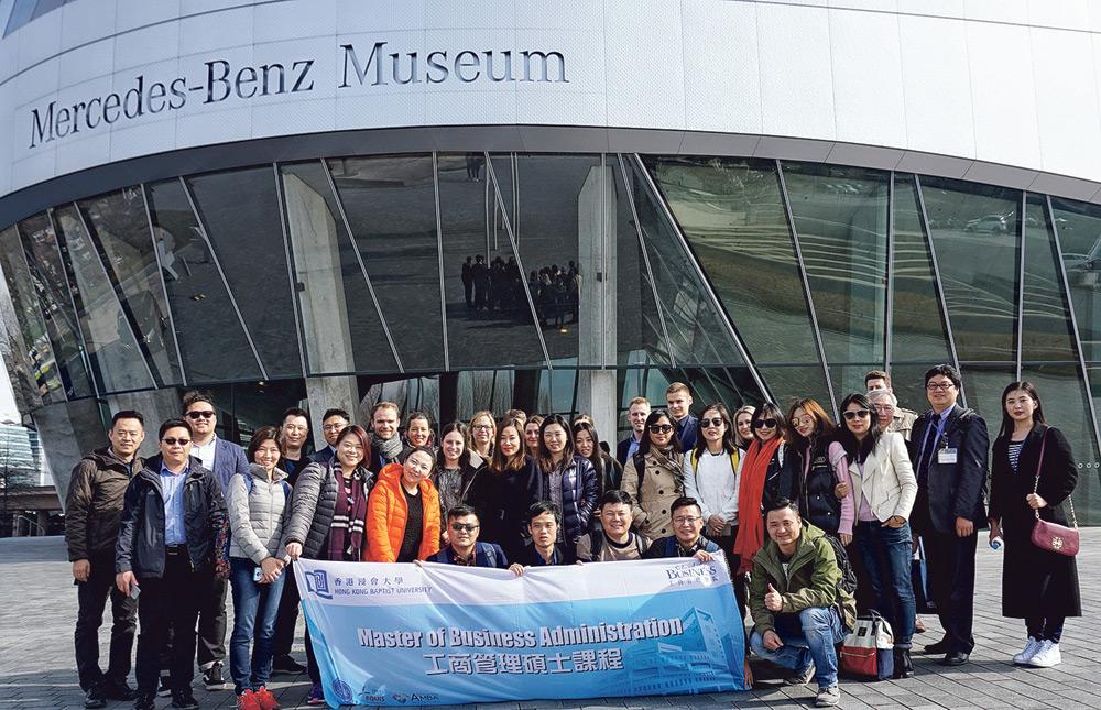 ▲擁有廣闊的國際視野是商業人才成功的關鍵,學院經常會舉辦海外交流及參觀活動,讓學生擴闊視野、建立人脈。