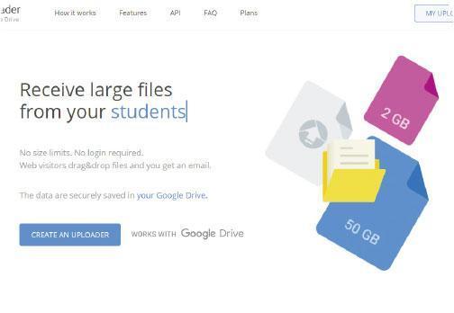 交換檔案——就算沒有Gmail的用家,也可透過Drive Uploader來交換大型檔案。(屏幕截圖)