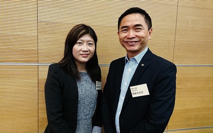 機電工程署高級訓練主任黃嘉雯(左)、高級工程師 / 訓練 1 關嘉文(右)