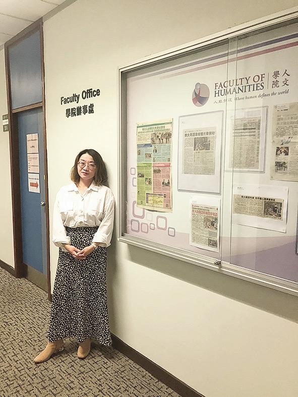 ▲MATCIL 課程畢業生陸文博士,曾任教大中國語言學系高級研究助理