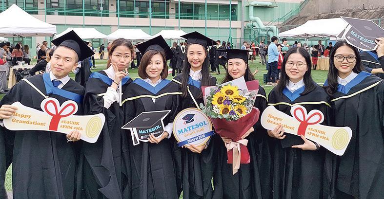 ▲MATESOL課程畢業生合照。