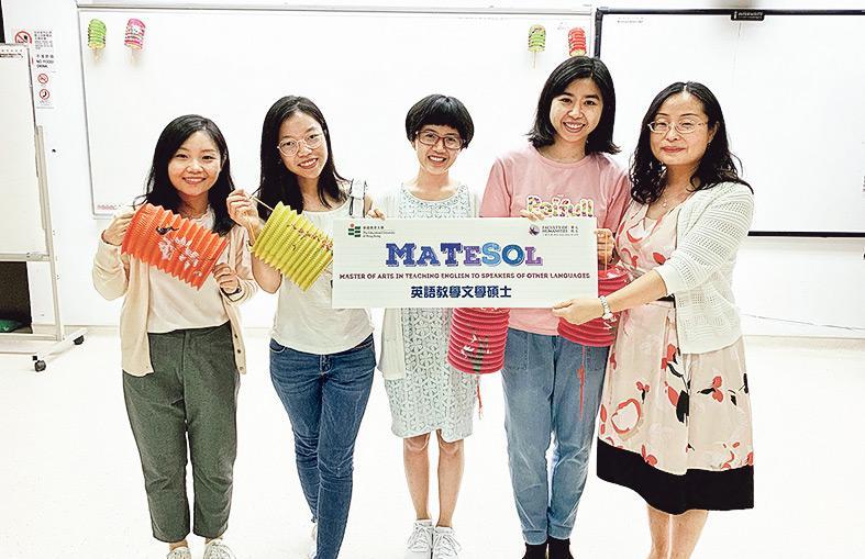 ▲MATESOL課程主任馬清博士(右一)