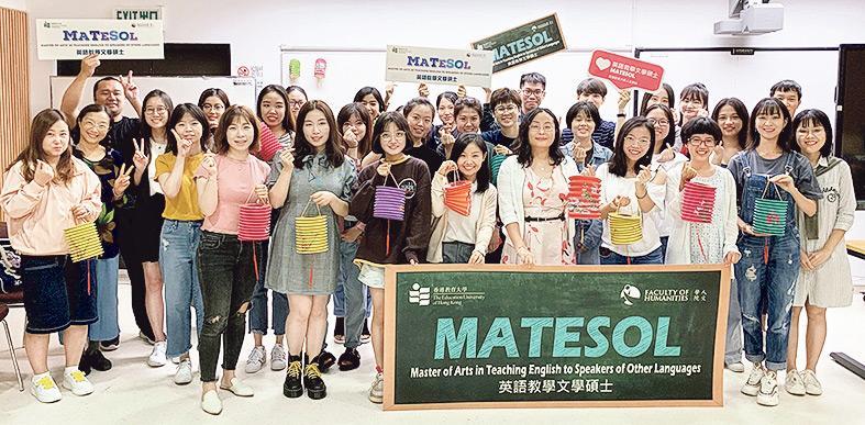 ▲MATESOL課程學生可參加學院舉辦的節日慶祝活動,彼此分享不同地方的習俗。