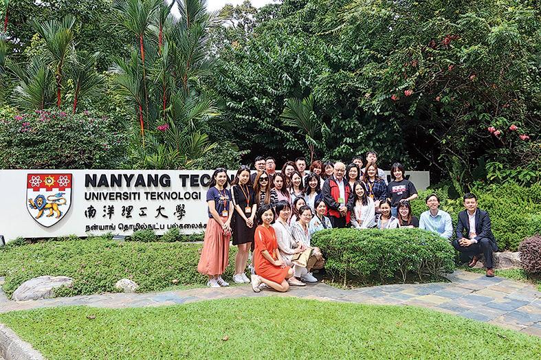 ▲同學參觀新加坡南洋理工大學。