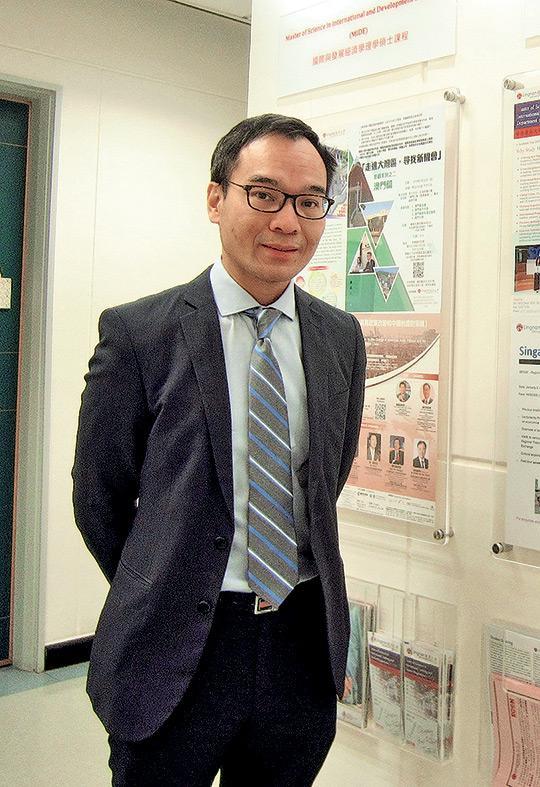 ▲嶺南大學國際銀行與金融碩士課程常務主任黎雲龍教授