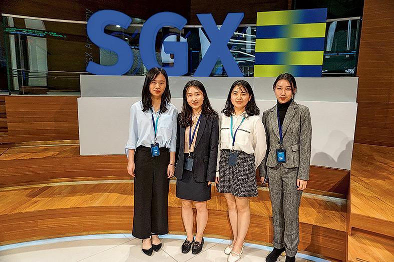 ▲學員到新加坡考察。