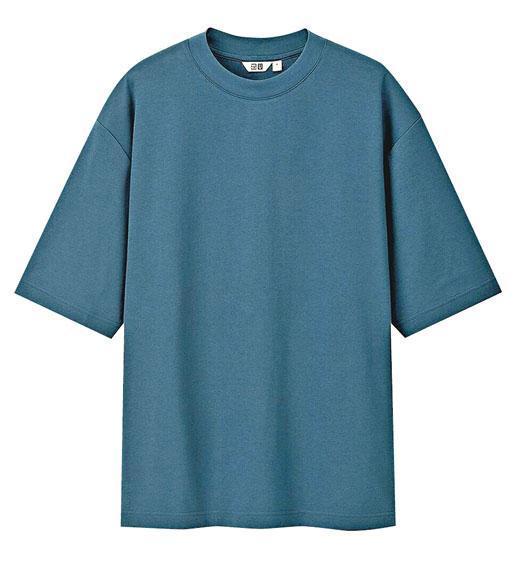 Uniqlo棉質寬鬆圓領5分袖T恤$99(品牌提供)