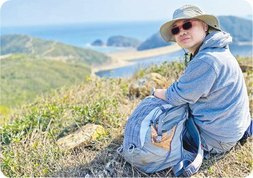 黃智仁(Johnny)——逾20年行山經驗,從事生態及地質導賞員10多年。(Vincent攝)