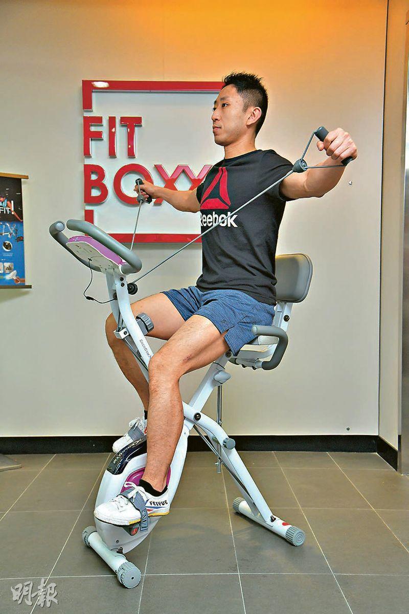 可摺合式健身單車(黃志東攝)