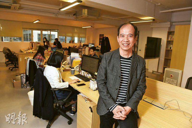 意料之外——曾錦強在2012年創立The Bees Group,現在旗下有19間子公司,他笑言當初沒想過會有如此規模。(劉焌陶攝)