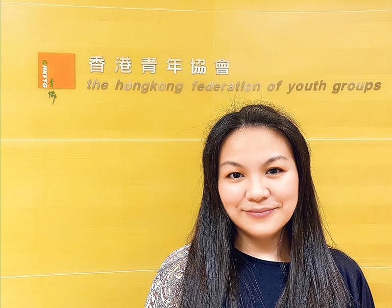 香港青年協會督導主任鄺穎琦(Vicky)