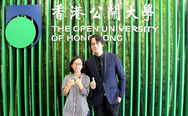 左起:「流行音樂及音樂製作高級文憑」畢業生津野邊情譽、伯樂音樂學院導師