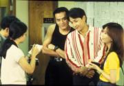 林家棟(右三)在《娛樂插班生》中扮張學友也是經典。