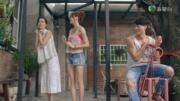 台灣表妹教路,Saving偷笑。(電視截圖)
