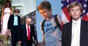 美國總統特朗普11歲幼子巴倫,獲不少網民大讚靚仔。(法新社)