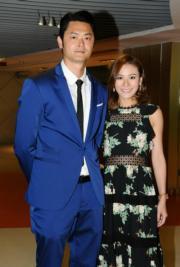 蕭潤邦(Oscar)與江若琳被睇好快將結婚。(攝影:鍾偉茵)