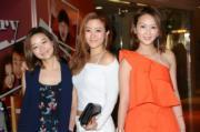 HotCha三位成員:張惠雅(左起)、黎美言、張紋嘉難得聚頭。(攝影:鍾偉茵)