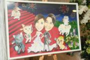 陳柏宇的一家人,包括家中的貓狗。(攝影:鍾偉茵)