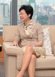 林鄭月娥(2014年資料圖片)