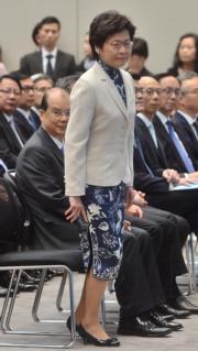 林鄭月娥(2017年6月資料圖片)