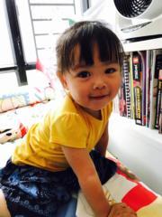 兩歲表現含羞答答!(網上圖片)